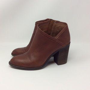Lucky Brand Salza Booties Rye Brown